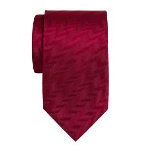 Burgundy Plain Herringbone Tie