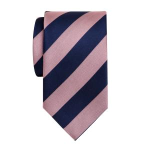 Navy & Pink Barber Stripe Tie