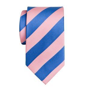 Sky & Pink Barber Stripe Tie