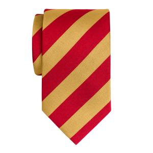 Red & Gold Barber Stripe Tie