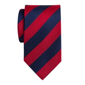 Navy & Red Barber Stripe Tie