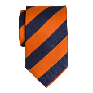Navy & Orange Barber Stripe Tie