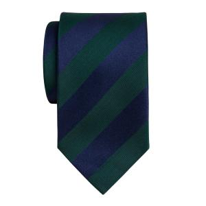 Navy & Green Barber Stripe Tie