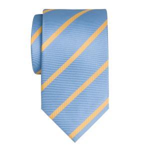 Gold on Sky Herringbone Stripe Tie