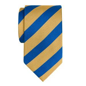 Royal & Gold Barber Stripe Tie