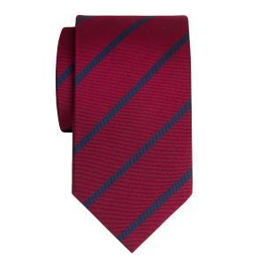Navy on Burgundy Herringbone Stripe Tie