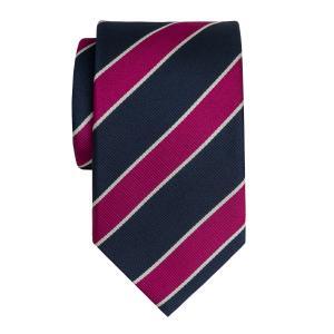Navy & Burgundy Club Stripe Tie