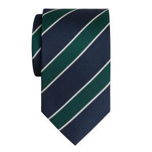 Navy & Green Club Stripe Tie