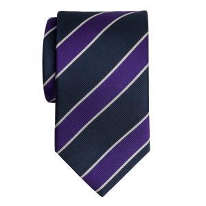 Navy & Purple Club Stripe Tie