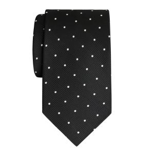 White on Black Small Spot Tie