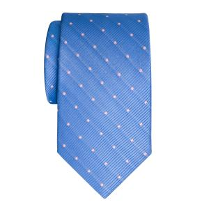 Pink on Sky Small Spot Tie