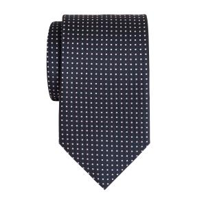 Pink on Navy Pindot Tie