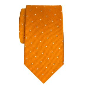 White on Orange Small Spot Tie