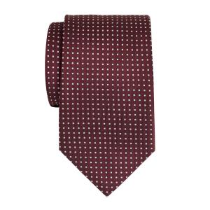 Sky on Burgundy Pindot Tie