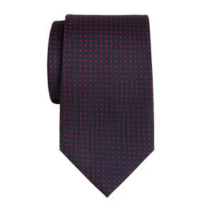 Red on Navy Pindot Tie