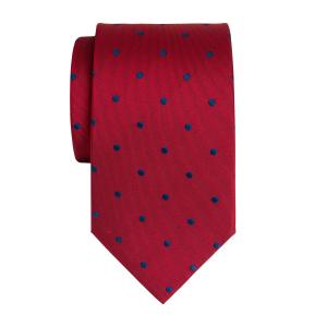Royal on Red Large Spot Tie