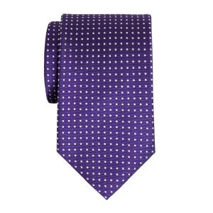 White on Purple Pindot Tie