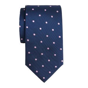 Lilac on Navy Large Spot Tie