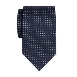 Lilac on Navy Pindot Tie