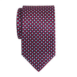 Navy Red Sky Dice Check Tie