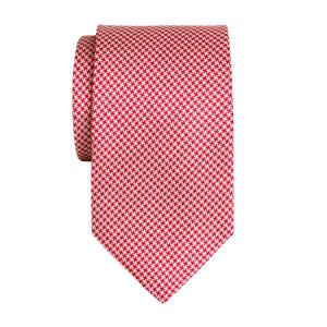 Red & White Houndstooth Tie