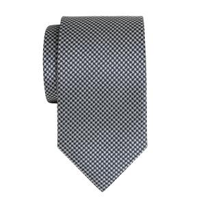 Navy & White Houndstooth Tie