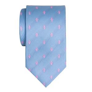 Pink on Sky Fleur-de-Lys Tie