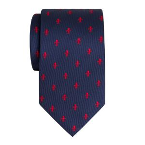 Red on Navy Fleur-de-Lys Tie