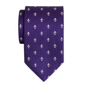 Purple Fleur-de-Lys Tie