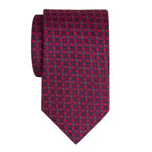 Royal & Red Ovals Motif Tie