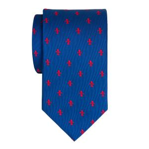 Red on Royal Fleur-de-Lys Tie