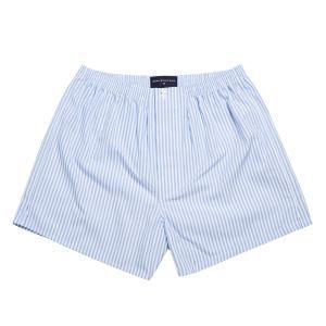 Sky Bengal Stripe Poplin Boxer Shorts