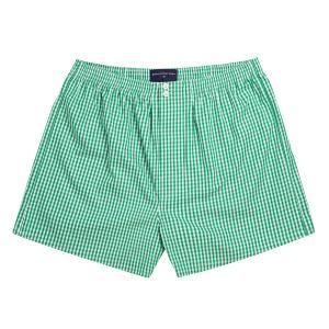 Green Bold Check Poplin Boxer Shorts