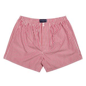 Red Bengal Stripe Poplin Boxer Shorts