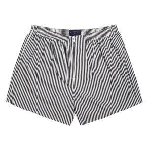 Black Bengal Stripe Poplin Boxer Shorts