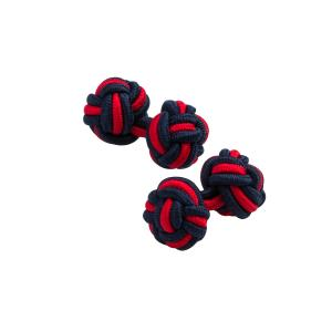 Navy & Red Silk Knots