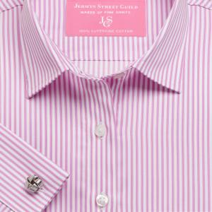 Pink Chelsea Stripe Twill Women's Shirt Available in Six Styles