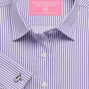 Purple Chelsea Stripe Twill Women's Shirt Available in Six Styles
