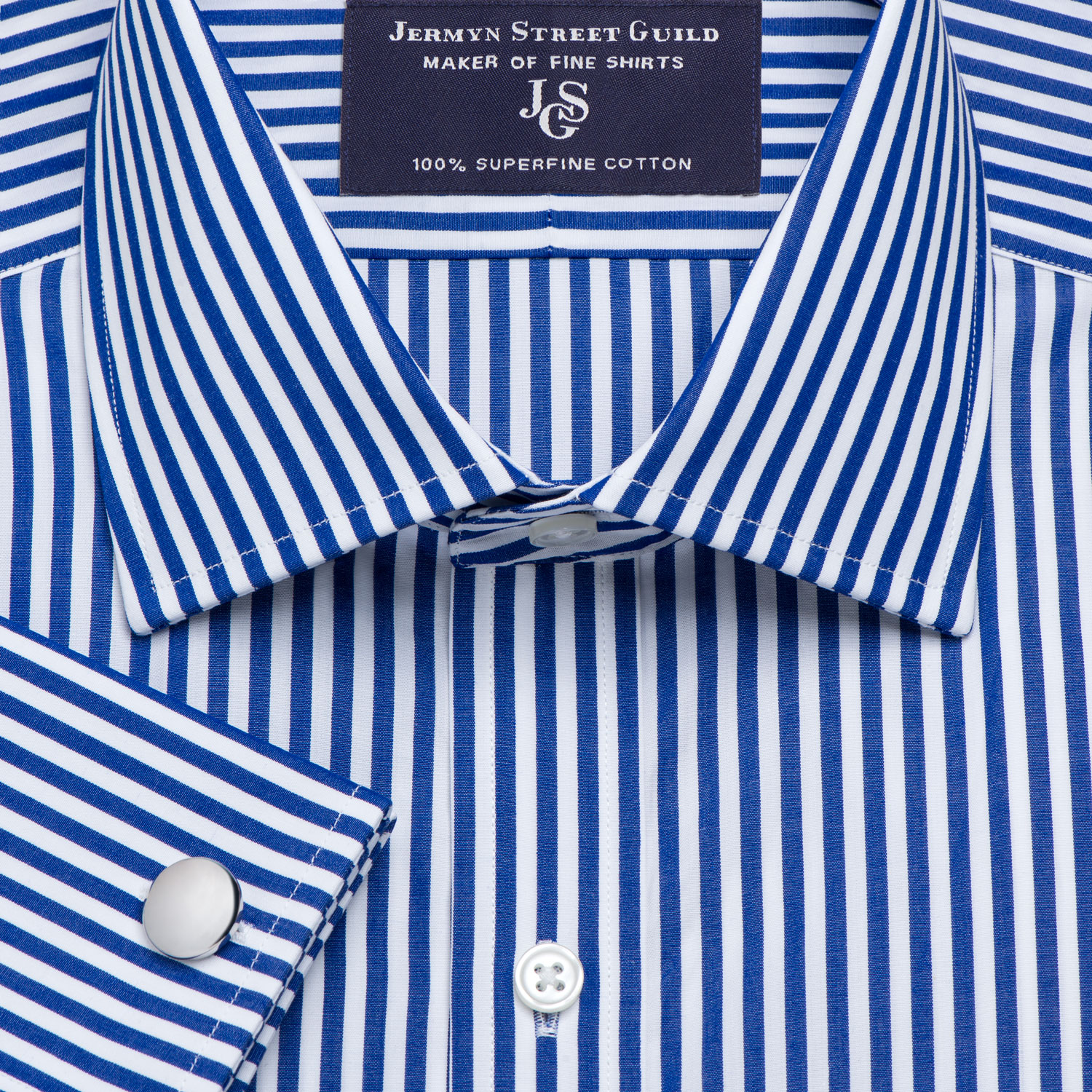 8404648bf4 Navy Bengal Stripe Poplin Men's Shirt Available in Four Fits