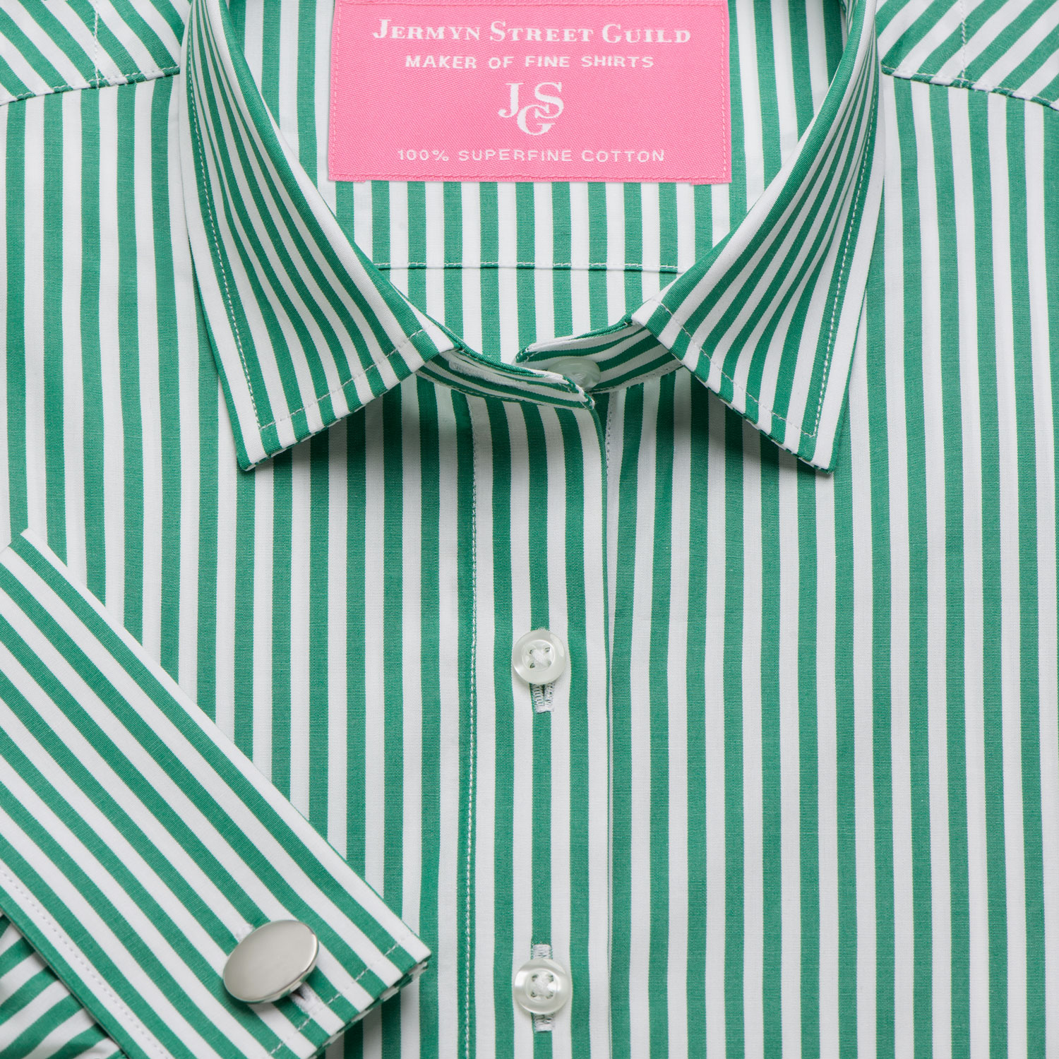 994d7fc657 Green Bengal Stripe Poplin Women's Shirt Available in Six Styles