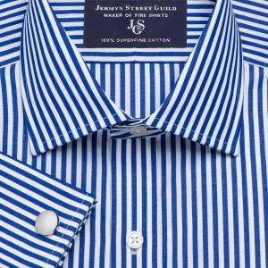 Navy Bengal Stripe Poplin Men's Shirt Available in Four Fits
