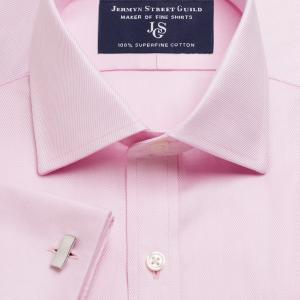 Pink Royal Twill Men's Shirt Available in Four Fits