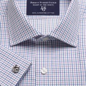 Purple Marylebone Check Twill Men's Shirt Available in Four Fits