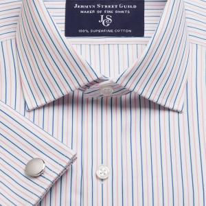 Pink Marylebone Stripe Twill Men's Shirt Available in Four Fits