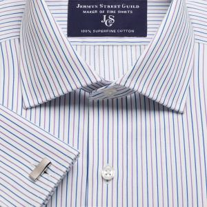 Purple Marylebone Stripe Twill Men's Shirt Available in Four Fits