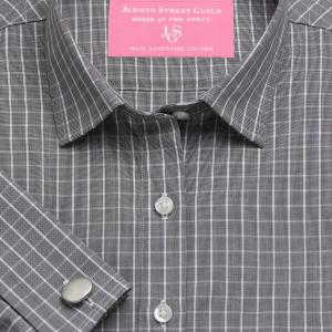Charcoal Westminster Check Poplin Women's Shirt Available in Six Styles
