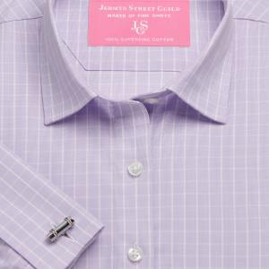 Lilac Westminster Check Poplin Women's Shirt Available in Six Styles