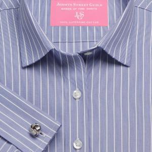 Navy Westminster Stripe Poplin Women's Shirt Available in Six Styles
