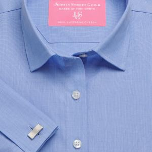 Blue End on End Poplin Women's Shirt Available in Six Styles