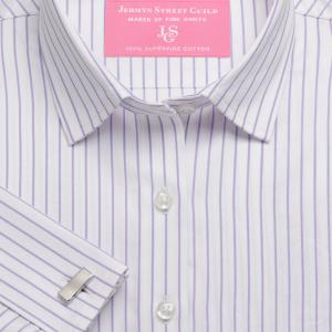 Lilac Herringbone Stripe Women's Shirt Available in Six Styles